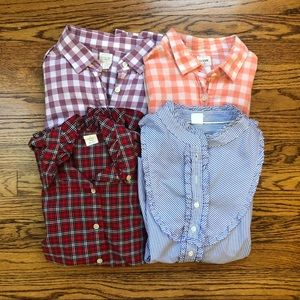 Great lot of FOUR J crew Tops!